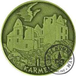 1 karmel / Sześćsetlecie Zagórza (mosiądz oksydowany)