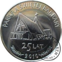 1 funt bieruński - 25. lat Parafii Świętej Barbary (III emisja - bimetal srebrzony)