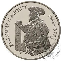 10 złotych - Zygmunt II August - półpostać