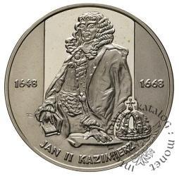 10 złotych -  Jan II Kazimierz - półpostać