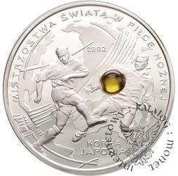 10 złotych - MŚ w piłce nożnej Korea/Japonia 2002 - bursztyn