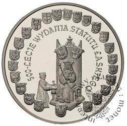 10 złotych - 500-lecie wydania Statutu Łaskiego