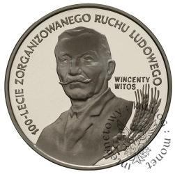 10 złotych - 100-lecie zorganizowanego ruchu ludowego Wincenty Witos