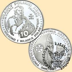 10 talarów królewskich - Mieszko I  wg. A. Lessera (Ag.500)