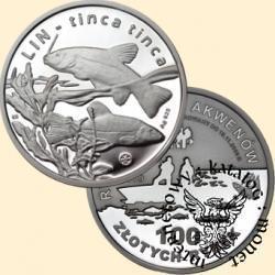 100 złotych rybek (Ag.925) - III emisja / LIN