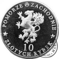 10 złotych rybek - Pomorze Zachodnie / Trzęsacz ~ Bocjana wspaniała (VIII emisja - aluminium)