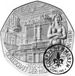 5 euro - 200 lat  Towarzystwa Przyjaciół Muzyki w Wiedniu