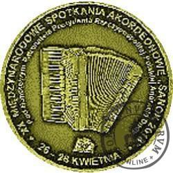 XX MIĘDZYNARODOWE SPOTKANIA AKORDEONOWE W SANOKU / 100. ROCZNICA ODZYSKANIA NIEPODLEGŁOŚCI (mosiądz)