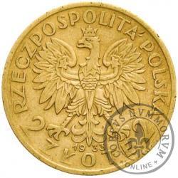 2 złote - Polonia - mosiądz