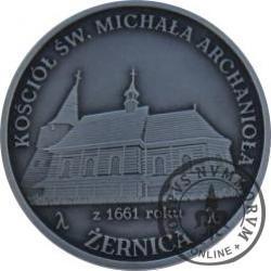 8 talarów powiatowych - Żernica / Kościół Św. Michała Archanioła (Ag oksydowane)