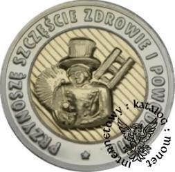 moneta kominiarska - Przynoszę szczęście, zdrowie i powodzenie