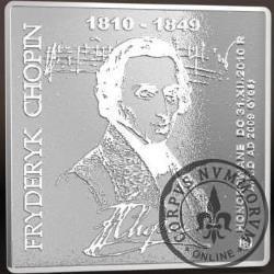 2000 chopinów / Fryderyk Chopin (klipa - srebro Ag 999,9)