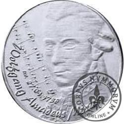 WODNIK - Wolfgang Amadeus Mozart (mosiądz posrebrzany)