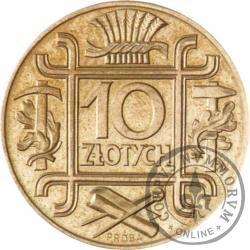 10 złotych - symbole, miedzionikiel mała