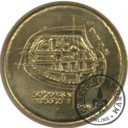4 kwartniki bytomskie - seria I / mosiądz (plan miasta)