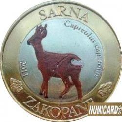 10 dutków zakopiańskich - SARNA (bimetal z tampondrukiem - V emisja)