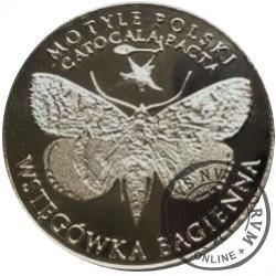 10 motylków / Wstęgówka bagienna (X emisja - alpaka oksydowana)