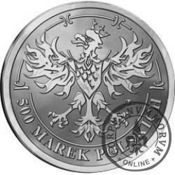 500 marek polskich - Środek płatniczy Rzeczypospolitej Polskiej 1919-1939 (alpaka)