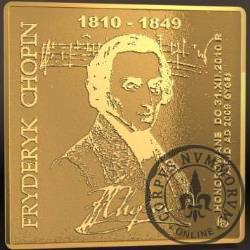10000 chopinów / Fryderyk Chopin (klipa - złoto Ag 999,9)
