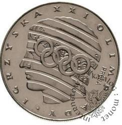 200 złotych - głowa i koła olimpijskie