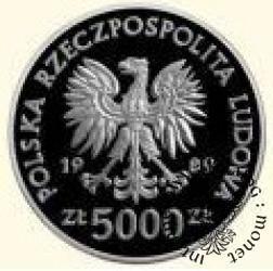 5000 złotych - Władysław II Jagiełło - popiersie