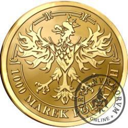 1000 marek polskich - Środek płatniczy Rzeczypospolitej Polskiej 1919-1939 (mosiądz pozłacany)