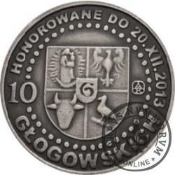 10 głogowskich / KONRAD I GŁOGOWSKI - 700. LECIE NADANIA PRAW MIEJSKICH (X emisja - mosiądz srebrzony oksydowany)