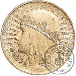 1 złoty - Polonia (głowa kobiety) Ag PRÓBA wyp.