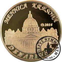 10 denarów - DENARIUS X (mosiądz + tampondruk - wersja krajowa) / Jan Paweł II - KANONIZACJA