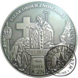 talar okolicznościowy (1050. Rocznica Chrztu Polski - mosiądz oksydowany)