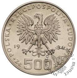 500 złotych - łabędź z młodymi