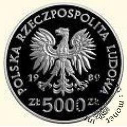 5000 złotych - Władysław II Jagieło - półpostać