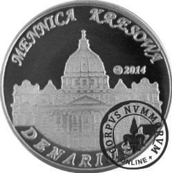 10 denarów - DENARIUS X (alpaka + tampondruk - wersja krajowa) / Jan Paweł II - KANONIZACJA