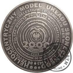2000 koperników / Mikołaj Kopernik (mosiądz srebrzony oksydowany)