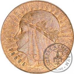 1 złoty - Polonia (głowa kobiety) brąz PRÓBA wyp.