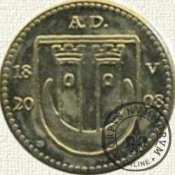 1 grosz pyskowicki - 2008 (mosiądz z cyrkonią)