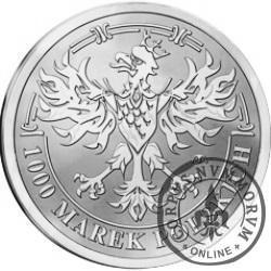 1000 marek polskich - Środek płatniczy Rzeczypospolitej Polskiej 1919-1939 (Ag)