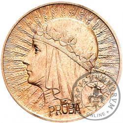 1 złoty - Polonia (głowa kobiety) Ag PRÓBA wkl.