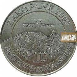 10 dutków zakopiańskich - Sabała (I emisja - bimetal posrebrzany)