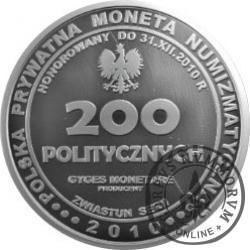 200 politycznych / Zwiastun serii (Polskie partie polityczne - mosiądz srebrzony oksydowany)