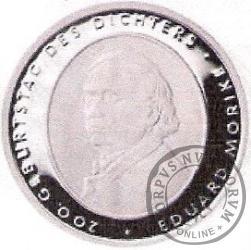 10 euro -   200- lecie urodzin  Eduarda Mörike.