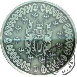 talar sanocki - ŚW. HUBERT PATRON MYŚLIWYCH (XIII emisja - mosiądz oksydowany - wersja medalowa)