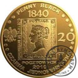 20 pocztowych - PIERWSZY ZNACZEK NA ŚWIECIE 1840 (mosiądz)