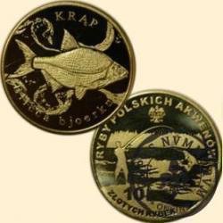 10 złotych rybek (mosiądz) - XXV emisja / KRĄP