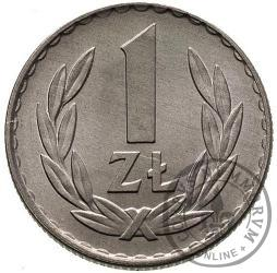 1 złoty - bez znaku
