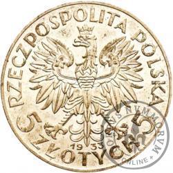5 złotych - Polonia (głowa kobiety) - Ag, st. zw.