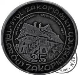 25 talarów zakopiańskich - Willa pod Jedlami (Ag oksydowane)