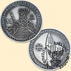 10 talarów królewskich - Bolesław I Chrobry  wg. A. Lessera (Ag.500 oksydowane)