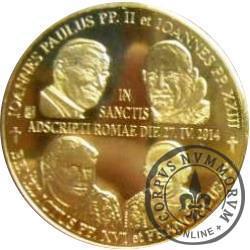 1 talar sanocki - Kanonizacja Jana Pawła II i Jana XXIII - 27.04.2014 (IX emisja - mosiądz)
