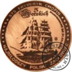 5 morskich - STS FRYDERYK CHOPIN / WZORZEC PRODUKCYJNY DLA MONETY (miedź patynowana)